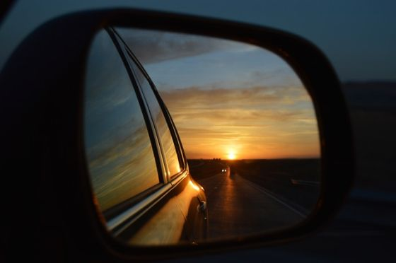 car auto mirror spiegel sunset sonnenuntergang