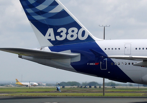 Airbus A380 Heck