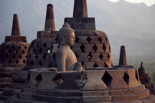 Borobodur Buddhismus Tempel Indonesien Java