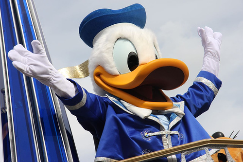 Walt Disney Donald Duck Disneyland Disneyworld