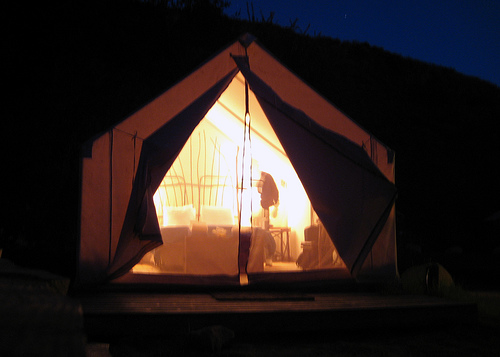 Glamping Luxus Camping Zelt