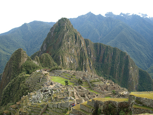 Peru view of Machu Picchu