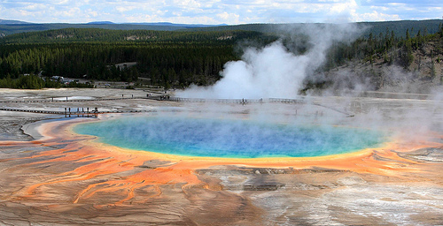 Yellowstone National Park Geysir Wyoming