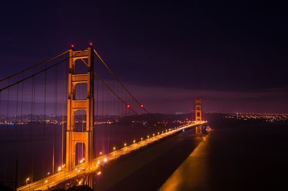 San Francisco Golden Gate at night